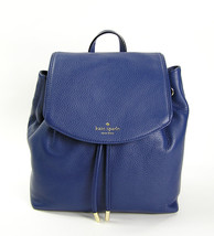 Kate Spade Mulberry Street Leather Small Breezy Backpack Oceanic Blue NW... - $157.41
