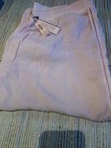 Victoria's Secret Pajama Bottoms Lounge Pants Large Pink Elastic NWT - $15.90