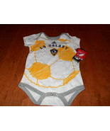 NWT MLS L.A. Galaxy Creeper / BODY SUIT Infants 18M months New Soccer Be... - $11.87