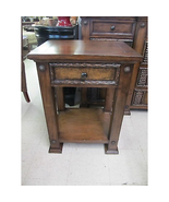 Shadow Mountain Dick Idol Legends Hand Tooled Leather Rustic Nightstand - $499.00