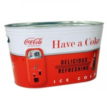 COCA COLA  Large Oval Tin  Party Tub (Red-White)  - $34.77