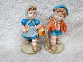 Vintage Handpainted Hansel and Gretel Like Ceramic Figurines, Collectibl... - $24.99