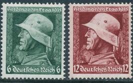 1935 War Heroes Set of 2 Germany Postage Stamps Catalog Number 452-53 MNH