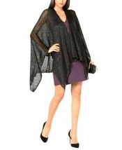 INC International Concepts Sequined Knit Ruana Evening Wrap Shawl, Navy ... - $27.72
