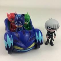 PJ Masks Cat-Car Vehicle Lot Catboy Owlette Gekko Luna Girl Figures Just Play - $29.65