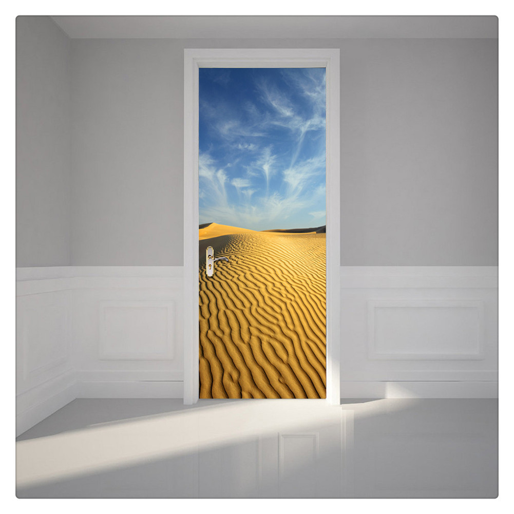 Primary image for Door Wall Sticker PVC Waterproof Bedroom Living Room Door Mural Wrap 27