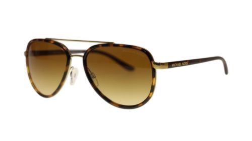 ed1d8f18fe05 Michael Kors Womens Sunglasses MK5006 10342L Tortoise Gold Brown Aviator  57mm - $92.15