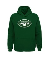 NFL New York Jets Youth Large Green Fleece Pullover Hoodie Sweatshirt Fo... - $29.38