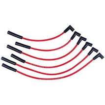 A-Team Performance 8.0 mm Red Silicone Spark Plug Straight Boot 6 Wires, Coil-in