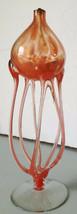 Artist Design Murano blown glass oil lamp art deco mid century bauhaus - $240.00