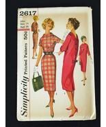 Vintage '60's Dress Pattern Simplicity 2617 Size 14 Bust 34 - $15.99