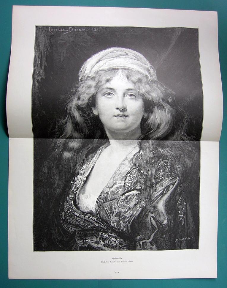 "EASTERN BEAUTY Oriental Girl  - Victorian Era Print 16"" x 21"""
