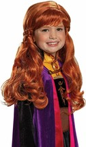 Disguise Frozen 2 Anna Child Red Hair Wig NEW