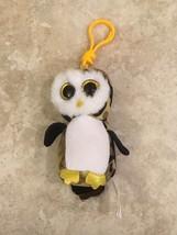 TY Beanie Boos OWLIVER Mini Owl Camouflage Camo Ornament Key Clip Keycha... - $11.87
