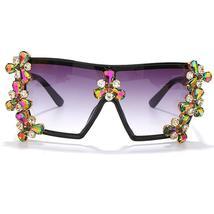 Oversized Colorful Diamond Sunglasses Women Luxury Fashion One Piece Square Sung image 14