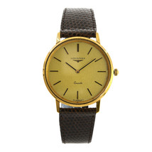 Vintage Longines 21586 Gold Toned Stainless Steel Men Watch - $989.01