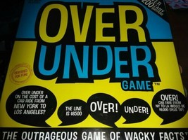 Over Under Game The Outrageous Party  Board Game of Wacky Facts 200 Ques... - $5.94