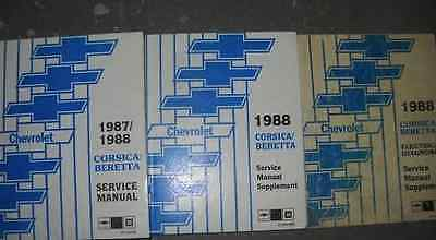 Primary image for 1987 1988 GM OEM Chevrolet Chevy Corsica Beretta Service Repair Shop Manual Set