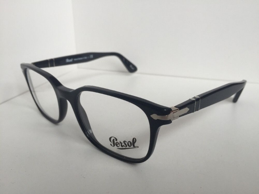 c5215accd4e5e 57. 57. Previous. New Persol 3118-V 95 Black 53mm Rectangular Eyeglasses  Frame Italy · New Persol ...