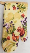 "Printed 12"" Jumbo Oven Mitt, FRUITS, beige back - $7.91"