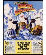 Miller Brew Penguins Surfboards 1989 Promo Print Ad - $14.99