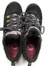 MERRELL Performance Women's Black Suede & Faux Fur Walking Shoes 9 M image 6