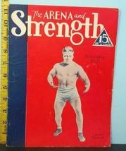 Nov. 1933 The Arena & Strength Vo.XVIII No.8 Lou Gehrig & Everette Marsh... - $19.75
