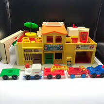 1973 FISHER PRICE PLAYSET little people barber shop fire police station ... - $193.05