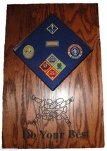 CUB SCOUT PATCHES AND  BADGES  DISPLAY CASE SHADOW BOX - $284.99
