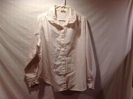 Square One Ivory Long Sleeve Lined Frill Collared Blouse