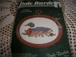 Antique Decoy Duck Cross Stitch Kit Dale Burdett CCK107 - $6.00