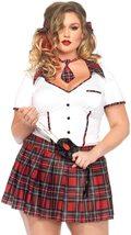 Leg Avenue Women's Plus-Size 3 Piece Boarding School Flirt School Girl Costume