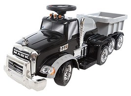 Wonderlanes 6V Deluxe Ride on Mack Truck Trailer - $201.93
