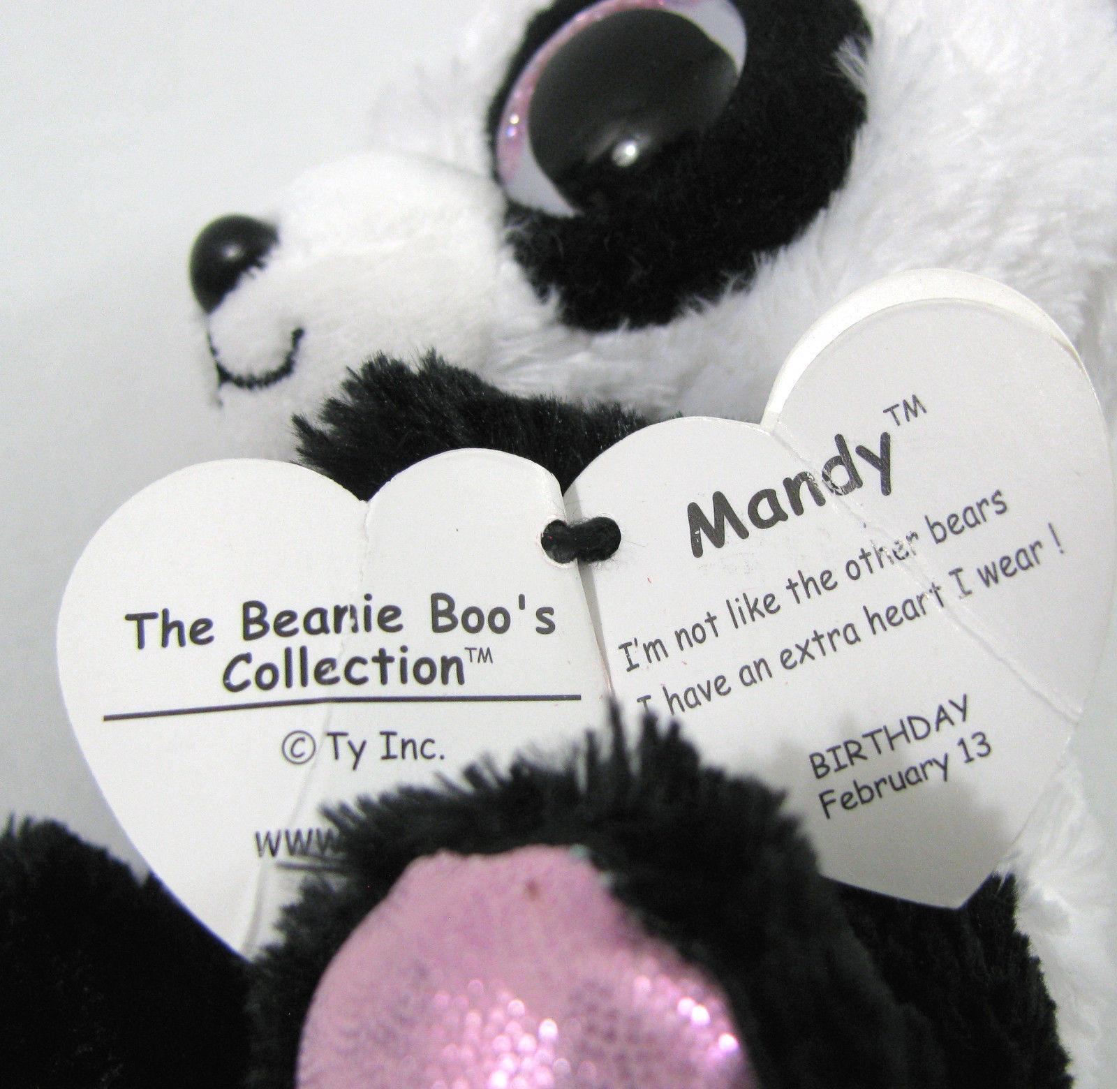 b89347a76fe TY Beanie Boos MANDY Valentine Panda Bear 6