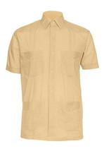 Men's Gentlemens Collection Traditional Short Sleeve Peach Guayabera Shirt 3XL image 1