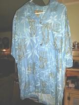 """Caribbean Joe""-Men's L Shirt-Short Sleeve,Button Front,Bamboo,Multi-Col... - $14.28"