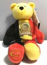 Limited Treasures Belgium Euro Coin Retired Stuffed Plush Bear New - $7.99