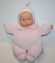 "Corolle BabiCOROLLE BABIPOUCE 12"" Baby Doll Pink Striped Dot Bib Vinyl F... - $29.00"