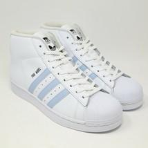 Adidas pro Modell Gehäuse Zehen Weiß Easy Blau BW1341 Basketball UNC Carolina - $116.18