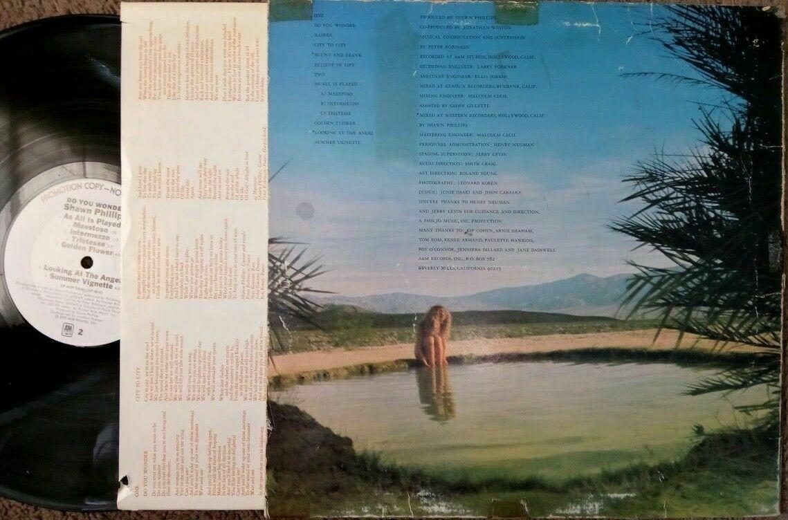 SHAWN PHILLIPS,Do You Wonder Vinyl LP,1975,A&M 4539   image 2
