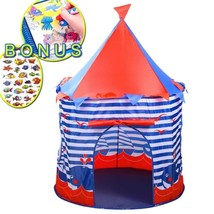 FHLove Kids Play Tent Sea World Playhouse, Foldable Teepee Tents Blue Ca... - $35.78