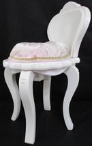 "1997 Mattel PRINCESS CHAIR Child Doll White Plastic Pink Satin Seat 19"" ... - $12.65"