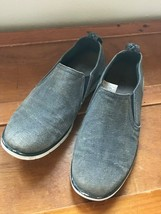 Used Men's Ugg Faded Denim Blue Fabric & Suede Slip On Loafers Size 8 –  - $12.19