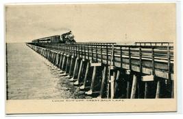 Railroad Train Lucin Cut Off Great Salt Lake Utah 1910c Albertype postcard - $6.88