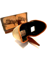 Underwood & Underwood Stero Viewer Patented 1901 with 15 Steroview Slides  - $122.76