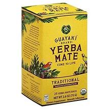 Guayaki Yerba Mate Organic Tea, 25-Count, 2.6oz (2 Pack) WECB (50 Count) - $48.53