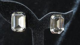 Vintage Weiss Emerald Cut Earrings - $50.00
