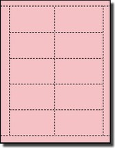 500 Label Outfitters Pastel Pink Color Laser and Inkjet Printable Business Cards