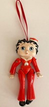 Vintage BETTY BOOP Red Jointed Christmas Tree Ornament Figurine with Defect - $39.59