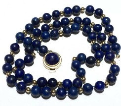 14k Long L API S Lazuli Necklace 14K Yellow Gold - $1,258.75